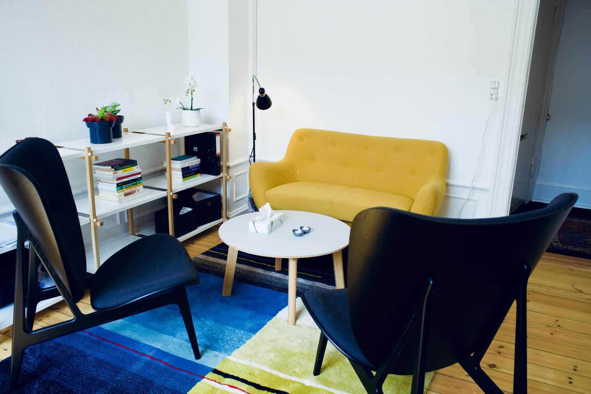 Terapirum i vores lokaler på Vesterbrograde i København